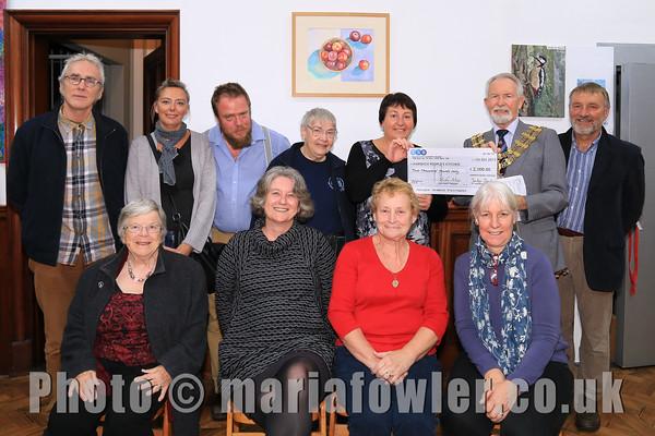 Harwich Secret Gardens Cheque Presentation Evening.